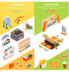 plaza shopping vertical banners vector image vector image