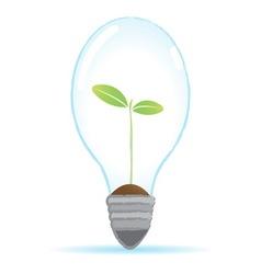 tree bulb lamp vector image vector image
