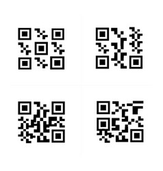 barcode and qr code vector image