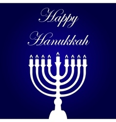 Happy Hanukkah card template vector image vector image