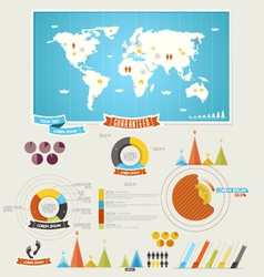 infographics elements vector image