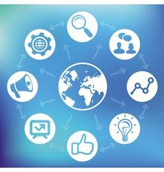 internet marketing vector image vector image
