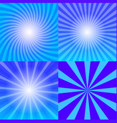 sunray background set vector image vector image