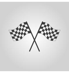 The checkered flag icon Finish symbol Flat vector image
