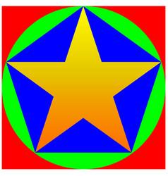 color star pentagon circle square vector image