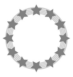 european union symbol in grey tones vector image vector image