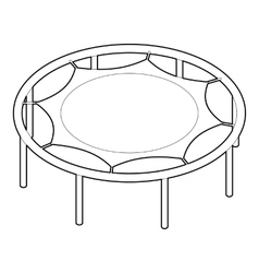 Trampoline jumping icon outline style vector image vector image