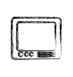 vintage television icon vector image vector image
