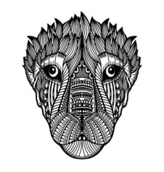zentangle tiger vector image