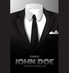 businessman suit promotional poster vector image