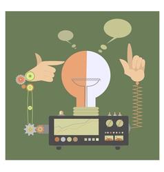 Ideas maker machine vector image