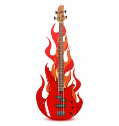 illustration of bass guitar vector image vector image