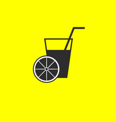 orange juice icon vector image