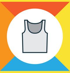 singlet colorful outline symbol premium quality vector image