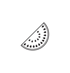watermelon line icon healthy fruit vector image