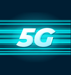 5g speed new wireless internet wifi connection vector image