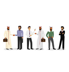 arab businessmen standing vector image