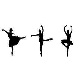 ballet dancers silhouettes vector image