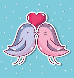 Bird dove lover w vector