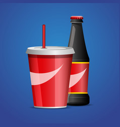 bottle of cola soda vector image