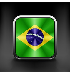 Brazil icon flag national travel icon country vector