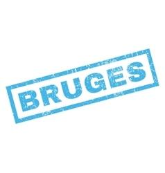 Bruges rubber stamp vector