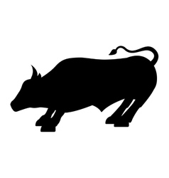 bull economy symbol isolated icon vector image