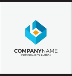 Business logo 3d initial b vector