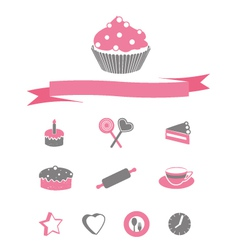 Cakes Icons vector image