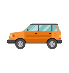 Cartoon Car Isolated on White Background flat vector