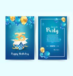 Celebration 35 th years birthday vector
