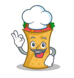 Chef kebab wrap character cartoon vector