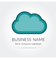 Cloud logo isolated on white background vector