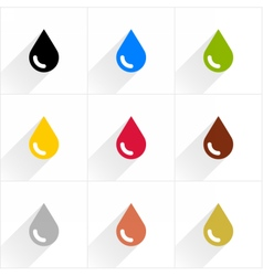 Color drop icon in flat style vector