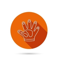 Construction gloves icon Textile protection vector image
