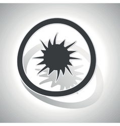 Curved burst sign icon vector