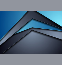 dark blue abstract tech corporate background vector image