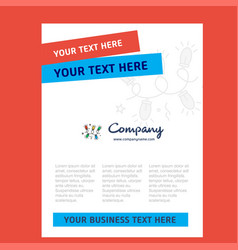 decoration lights title page design for company vector image
