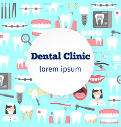 Dental clinic poster vector