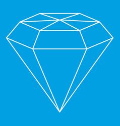 Diamond gemstone icon outline style vector
