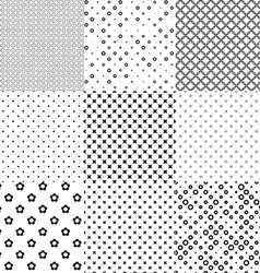 Different seamless patterns vector