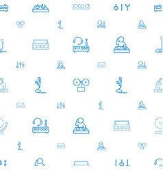 dj icons pattern seamless white background vector image