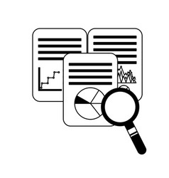 document report diagram information searching vector image