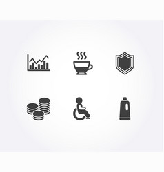 Doppio tips and infochart icons security vector