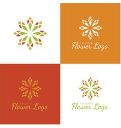 elegant flower logo and icon vector image