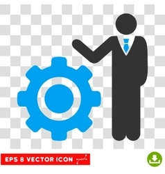 Engineer And Gear Eps Icon vector