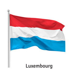 Flag grand duchy luxembourg vector