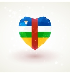 Flag of Central African Republic in shape diamond vector