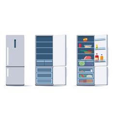 flat refrigerators set vector image
