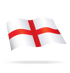 Flowing flag of england st georges cross vector